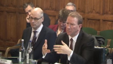 David Adams of Melius Homes (left) and David Thomas of Barratt Developments (right) giving evidence at the BEIS evidence session on energy efficiency