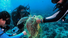 The ghost gear issue from fishing has been described as a