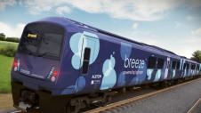 The UK's first hydrogen trains, called Breeze, are due to be launched in 2021. Image: Alstom / Eversholt Rail