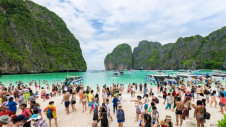 Maya Bay in Thailand (pictured) attracted 5,000 tourists a day before the government closed the area over environmental concerns. Image: Tourism Thailand