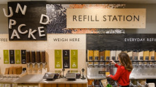 Refillable containers will be showcased alongside products at the participating stores. Image: Waitrose & Partners