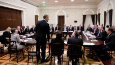 Pictured: Members of the Business Roundtable meeting with then-president Barack Obama in 2013. Image: Pete Souza for the White House