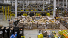Pictured: Inside one of Amazon's US fulfilment centres. Image: Amazon US
