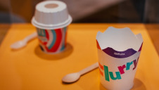 The lidless McFlurrys feature foldable paper-based flaps on the existing packaging which create a new lid