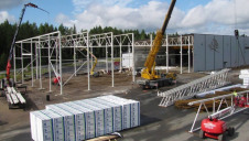 Pictured: Kingspan's factory in Kankaanpaa, Finland, during construction.