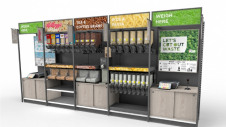 Pictured: The refill station for bulk goods that will be installed for the trials. Image: Asda