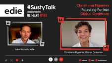 The 15-minute video interview with Christiana Figueres was recorded to kick-start edie's Net-Zero Week of themed content and online events