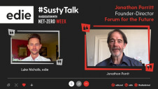 edie's content director Luke Nicholls spoke with Forum for the Future's founder-director Jonathon Porritt over Microsoft Teams