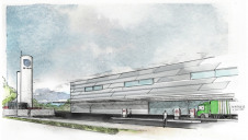 Pictured: An artist's impression of the proposed facility