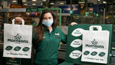 The paper bags cost the same as the plastic 'bags for life' and boast similar strength and capacity. Image: Morrisons