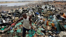 The majority of e-waste generated globally is unaccounted for, seeping into regions such as Agbogbloshie slums of Ghana (pictured)
