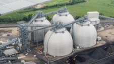 Biomass domes at Drax Power Station. Image: Drax