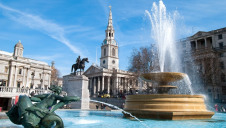 Trafalgar Square. London ranks as one of the most water-stressed cities in the world