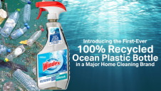 The bottle consists of 100% recycled material and is, in turn, 100% recyclable