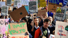 The debate came after thousands of schoolchildren and teachers walked out of lessons to call for greater government action on climate challenges