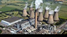 The achievement comes just two years after Britain marked its first full day without coal. Pictured: Eggborough power station, Yorkshire