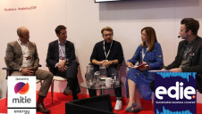 (L-R) Heathrow's Matt Prescott, Mitie Energy's Peter Nisbet, Yellow Octopus Fashion's Jack Ostrowski, AB Sugar's Katharine Teague and edie's Matt Mace