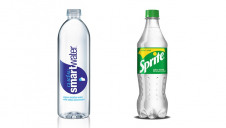 The new Sprite bottles will be rolled out by September, with the SmartWater bottles to follow