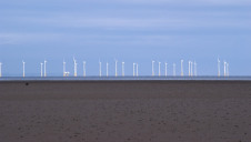 Offshore wind turbines on the Solway coast, Southerness, Dumfries