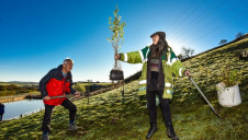 Tree planting above Gorpley reservoir in Calderdale where up to 200,000 trees will be planted Image: Yorkshire Water
