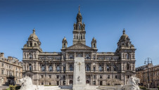 Pictured: Glasgow City Council's chambers. The local authority recently committed to net-zero by 2030 as part of its bid to host COP26.