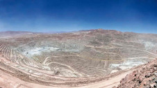Pictured: BHP's Escondida mining operations in Chile