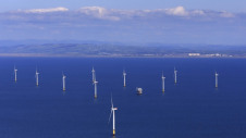 Pictured: The world's largest operational offshore wind farm, Walney Extension