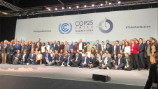 Pictured: Representatives from B Corp members at COP25. Image: Dr Ann Smith