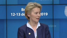 "Pictured:  European Commission President-elect Ursula von der Leyen, who says she wants the Green Deal to be the ""hallmark"" of her tenure"