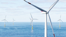 Hornsea One offshore wind farm (pictured) disconnected during a lightning strike. Image: Orsted