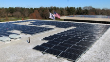 Pictured: A rooftop solar array at PepsiCo's HQ in Harrison, NY.