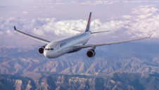 Since 2005, Delta has reduced its absolute GHG footprint by 11% from 46 million metric tonnes to 41 million metric tonnes. Image Delta Air Lines