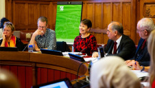 Pictured: Caroline Lucas MP speaking at the Bill's informal reception last month. Image: Today for Tomorrow