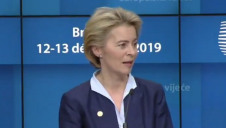 "Pictured:  European Commission President-elect Ursula von der Leyen has maintained that she wants the Green Deal to be the ""hallmark"" of her tenure"
