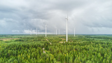 Wind farm in Kokkolantie ,Finland