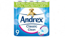 Currently, all Andrex toilet tissue and dry packaging are 100% recyclable