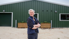 Pictured: Nottingham Trent University's associate professor in sustainable food production, Dr Emily Burton, who is contributing to REACT-FIRST. Image: NTU