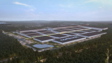 An artist's rendering of the planned gigafactory. Image: Northvolt