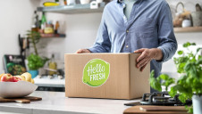 The company's 17 production sites generate, on average 7g of carbon per dollar of sales. Image: HelloFresh