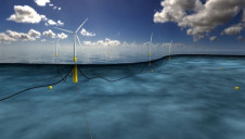 Pictured: An artist's impression of a floating windfarm in the Celtic Sea. Image: Statoil