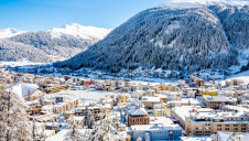 Pictured: Davos, the event's host town