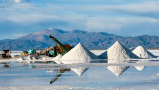 Pictured: Lithium mine at Salinas Grandes salt desert, Jujuy province, Argentina