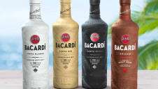 Pictured: Bacardi Rum products housed in the new material