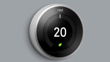The Google Nest Thermostats (pictured) now contain 75% recycled plastics.
