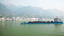 Pictured: A barge carrying coal on the Yangtze river