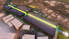 Pictured: An artist's CGI rendering of the proposed Gigafactory, aerial view. Image: Coventry City Council