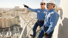 Pictured: Facilities engineers at one of Chevron's existing US gas projects