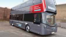 Pictured: A double-decker hydrogen bus from Wrightbus