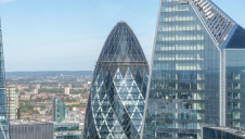 Swiss Re's UK headquarters are located within the Gherkin (pictured)