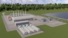 Pictured: An artist's impression of co-located renewable electricity generation and flexibility assets. Image: Wärtsilä